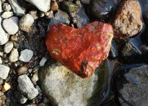 red heart rock