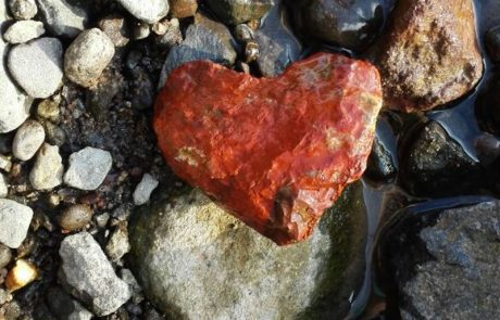 red heart rock
