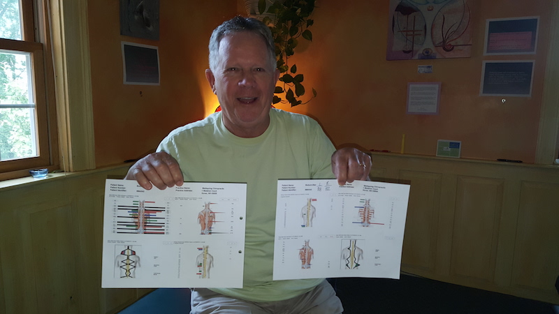 man with charts